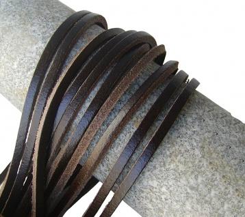 1 Paar Docksider Leder Schuhriemen dunkelbraun, Länge 120 cm, Stärke ca. 2, 8 ...