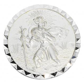 Autoplakette Plakette Schutzpatron Christopherus 925 Sterling Silber