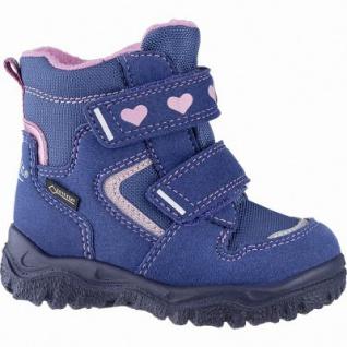 Superfit Mädchen Synthetik Lauflern Tex Boots blau, mittlere Weite, molliges Warmfutter, herausnehmbares Fußbett, 3241111/24