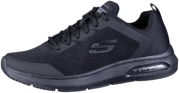 SKECHERS Dyna-Air Herren Mesh Sneakers black, Air Cooled Memory Foam Fußbett