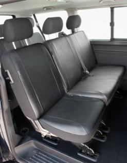Passform Sitzbezüge VW T6, passgenauer Kunstleder Sitzbezug Einzelsitz hinten, ab Bj. 07/2015