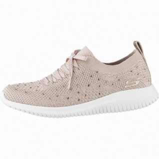 Skechers Ultra Flex coole Damen Strick Sneakers rose, Skechers Air-Cooled-Memory-Foam-Fußbett, 4142108/36