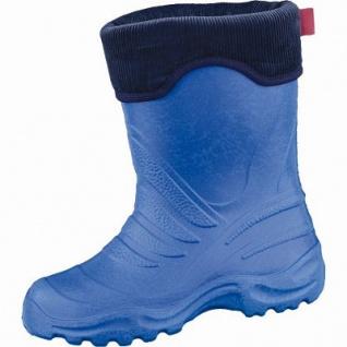 Beck Ultraleicht Jungen Winter Thermo Stiefel blau aus EVA, wasserdicht, molliges Warmfutter, bis -30 Grad, 5037101/34-35