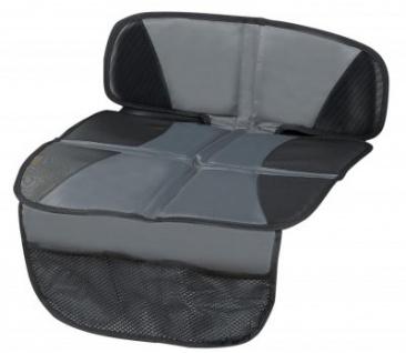 praktische Universal Polyester Kindersitz Unterlage schwarz mit Taschen, rutschsicher, Unterlage für Kindersitze