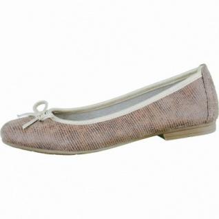 Soft Line modische Damen Ballerinas taupe, Synthetik Textil kombiniert, weiche Decksohle, Extra Weite H, 1336104