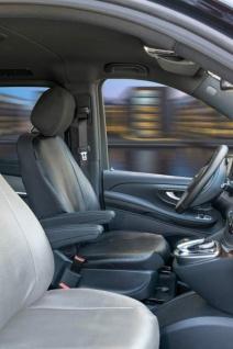 Passform Sitzbezüge Mercedes V-Klasse 477, passgenauer Stoff Sitzbezug Fahrer Einzelsitz f. Armlehne innen, ab Bj. 06/2014