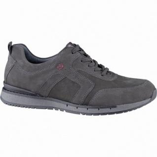 Waldläufer Hudson 12 Herren Leder Sneakers carbon, Extra Weite H, herausnehmbares Leder Fußbett, 2241107/9.5
