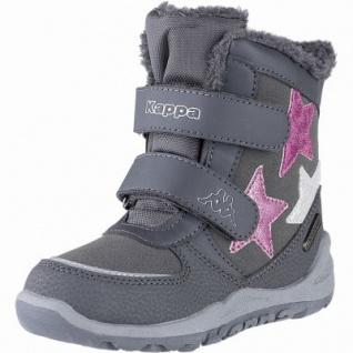 Kapppa Glitzy Tex K Mädchen Synthetik Winter Boots grey, 11 cm Schaft, Warmfutter, Kappa Fußbett, 3741130/35 - Vorschau 2