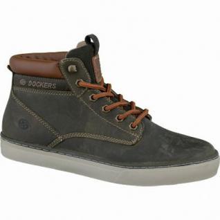 Dockers modische Herren Leder Sneakers schlamm, Kaltfutter, 2137122