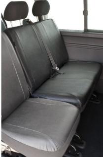Kunstleder Autositzbezug VW T5 anthrazit waschbar, Doppelbank hinten, Baujahre 04/03-08/09