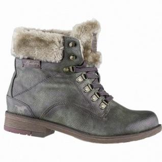 Mustang coole Damen Leder Imitat Winter Boots olive, molliges Warmfutter, 13 cm Schaft, Mustang Laufsohle, 1641321/36
