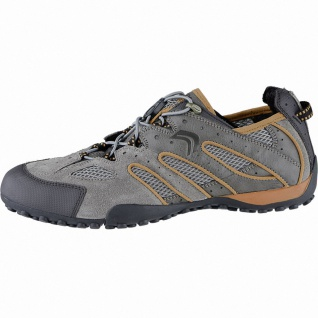 Geox sportliche Herren Leder Sneakers taupe, Geox Laufsohle, Geox Fußbett, An...