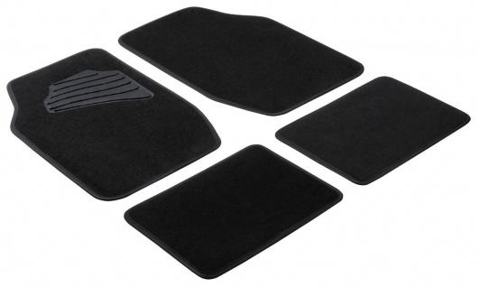 Komplett Set Universal Auto Fußraum Matten Matrix schwarz 4-teilig, Anti Slip...