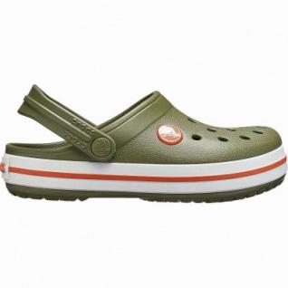 Crocs Crocband Clog Kids coole Jungen Clogs army green, verstellbarer Fersenriemen, 4342118/24-25