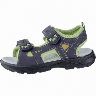 Lurchi Kris modische Jungen Synthetik Sandalen atlantic, breitere Passform, Lurchi Fußbett, 3540116