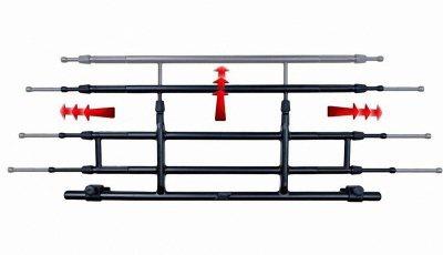 wasserdichte Universal Anti Rutsch Kofferraum Wanne grau 85x90, robuster PE Schaum, Wabenprofil mit hohem Rand