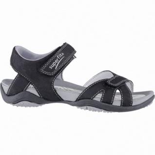 Superfit sportliche Mädchen Leder Sandalen schwarz, mittlere Weite, Leder Decksohle, 3540142/34