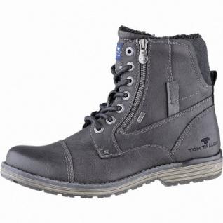 TOM TAILOR sportliche Herren Leder Imitat Winter Tex Boots coal, 14 cm Schaft, Warmfutter, warmes Fußbett, 2541115