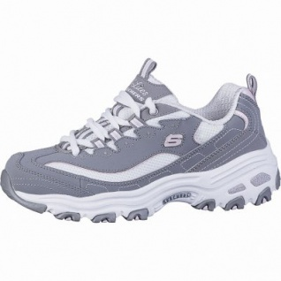 Skechers D Lites Biggest Fan coole Damen Synthetik Sneakers grey, Air-Cooled Memory Foam-Fußbett, 4142143/36