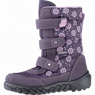 Richter Mädchen Tex Boots aubergine, mittlere Weite, Warmfutter, anatomisches Fußbett, 3741220/33
