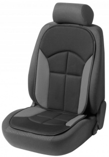 bequeme Universal Auto Sitzauflage Novara grau, hohes Rückenteil, 30 Grad waschbar, alle PKW