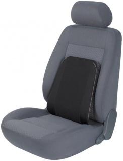 ergonomisches Baumwoll Auto Lendenstütz Kissen schwarz 40x40 cm, entlastet Rücken+Wirbelsäule, 30 Grad waschbar