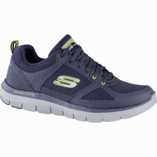 Skechers Flex Advantage 2.0 coole Herren Mesh Sneakers navy, Skechers Air Cooled Memory Foam-Fußbett, 4240162