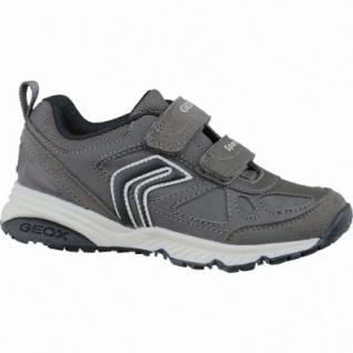 Geox J Bernie modische Jungen Synthetik Sneakers grey, Antishock, Leder Fußbett, 3337119/30