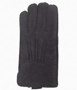 Herren Fingerhandschuhe Lammfell grau, Fellhandschuhe grau, Größe 10