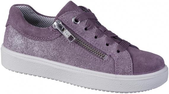 SUPERFIT Mädchen Leder Sneakers lila, mittlere Weite, Superfit Decksohle