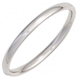 Armreif Armband oval 925 Sterling Silber Silberarmreif Kastenschloss