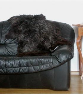 langhaariges Heidschnuckenfell braun meliert ca. 110x70 cm, Haarlänge ca. 15 cm