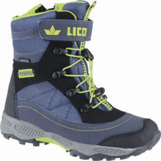 Lico Claron VS coole Jungen Winter Nylon Tex Boots marine, Warmfutter, warme Einlegesohle, 4539116/30