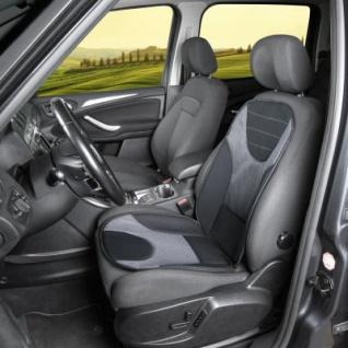 extra weicher Universal Auto Sitzaufleger Grafis grau, hohes Rückenteil, 9 mm Schaumstoff, waschbar, PKW Sitzschoner - Vorschau 2