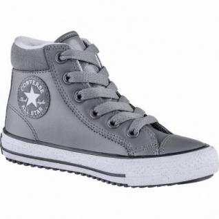 Converse CTAS Chuck Taylor All Star Converse Boot Mädchen Leder Imitat Sneakers black, Fleecefutter, 3739113