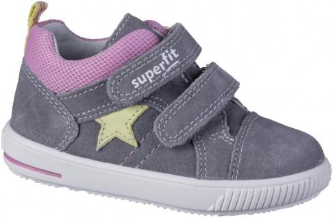 SUPERFIT Mädchen Leder Lauflern Sneakers hellgrau, mittlere Weite, Superfit L...