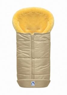 großer Baby Premium Winter Lammfell Fußsack beige waschbar, Kinderwagen, Bugg...