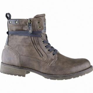 Mustang Herren Leder Imitat Winter Boots mittelbraun, 13 cm Schaft, molliges Warmfutter, warme Decksohle, 2541187/47
