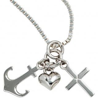 Kinder Anhänger Glaube Liebe Hoffnung 925 Sterling Silber Kinderanhänger - Vorschau 4