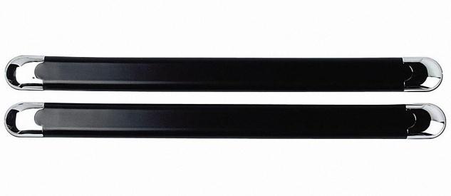 LAMPA 2 Stück PVC / Chrom Stoß Schutz Auto Stoßstangen selbstklebend, 49, 5x4 ...