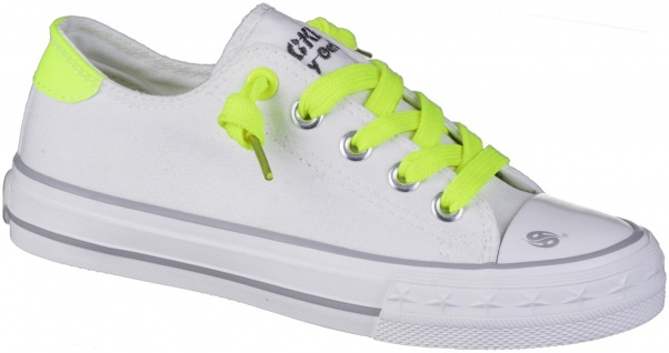 DOCKERS Mädchen Canvas Sneakers weiss, softe Decksohle