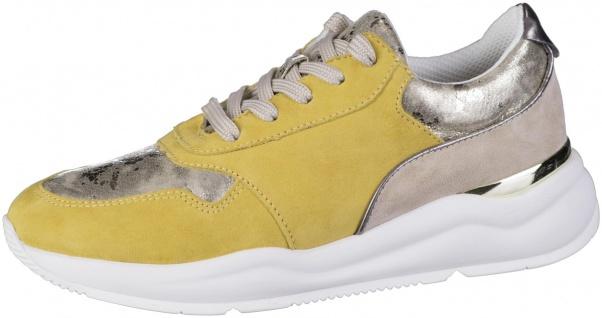 JANA Damen Leder Sneakers saffron, Extra Weite H, Jana Comfort Fußbett