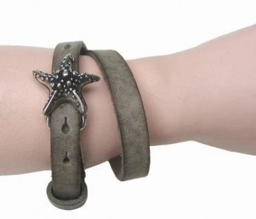Boom Belts cooles Damen, Herren echt Leder Armband schlamm, Unisex Leder Wickel Armband, ca. 43x1 cm, für 1 cm Schließen