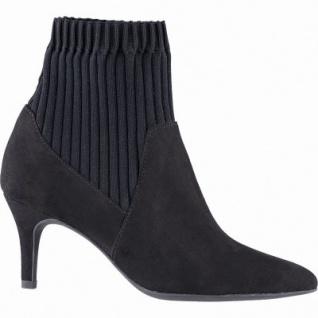 Marco Tozzi trendige Damen Leder Imitat Sock Boots schwarz, Stretchmaterial, weiche Feel me Decksohle, 1641365/39