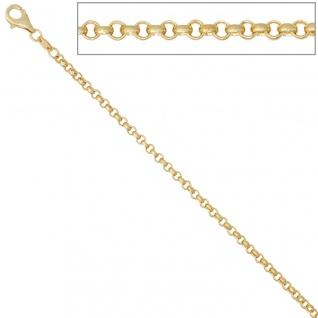 Erbskette 585 Gelbgold 2, 5 mm 45 cm Gold Kette Halskette Goldkette Karabiner