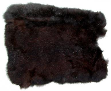 Kaninchenfelle schwarz naturfarben, ca. 30x30 cm, Felle vom Kaninchen mit sei...