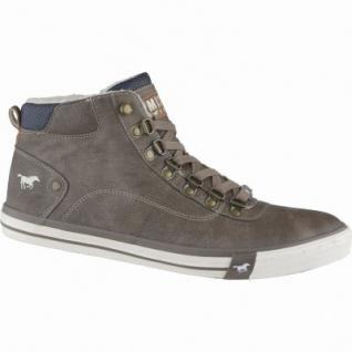 Mustang modische Herren Leder imitat Winter Sneakers braun, molliges Warmfutter, warme Decksohle, 2539107