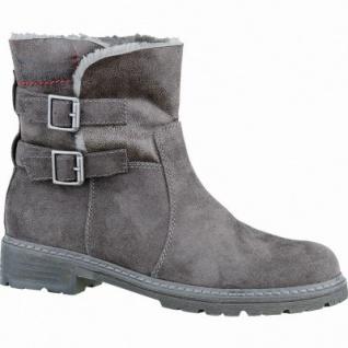 s.Oliver modische Damen Leder-Imitat Winter Boots dark grey, molliges Warmfutter, gepolsterte Soft-Foam-Decksohle, 1637189