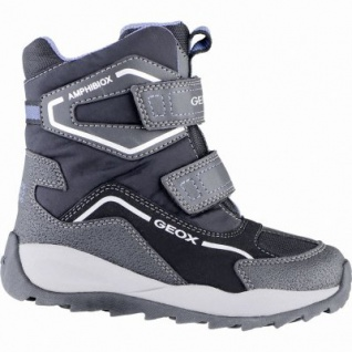 Geox coole Jungen Winter Synthetik Amphibiox Boots black, Warmfutter, Thermo Fußbett, 3739174/37