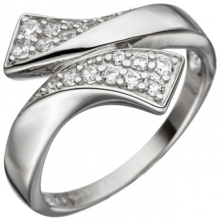 Damen Ring 925 Sterling Silber mit Zirkonia Silberring - Vorschau 1